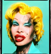 amanda lepore as andy warhol's marilyn (turquoise) by david lachapelle