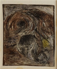 tin mine: miner emerging from a stope by graham sutherland