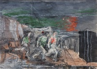 untitled (quarrymen) by graham sutherland