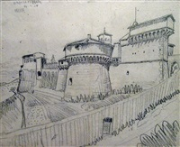 grotto ferrato (castle) by m. c. escher