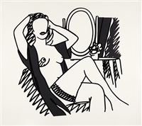 nude with mirror by tom wesselmann