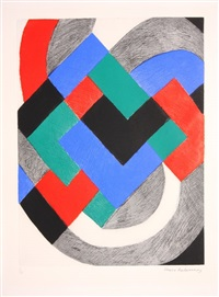 composition with white arc by sonia delaunay-terk