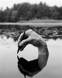selfportrat, fosters pond by arno rafael minkkinen