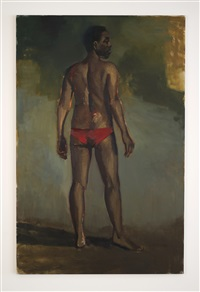 bullrushes and forget-me-nots by lynette yiadom-boakye