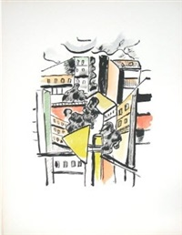 les toits (roofs), from la ville series by fernand léger