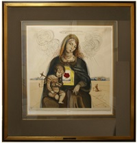 the mystical rose madonna by salvador dalí