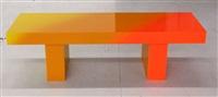 yellow to orange bench 1 by andrew schoultz