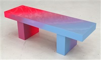 pink to blue bench 2 by andrew schoultz