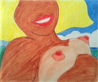 nude on the beach by tom wesselmann