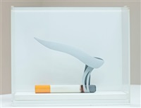 maquette for smoking cigarette by tom wesselmann