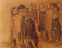 going to school by théophile alexandre steinlen