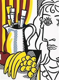 stilleben mit picasso by roy lichtenstein