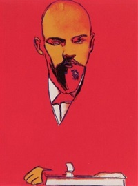 red lenin by andy warhol