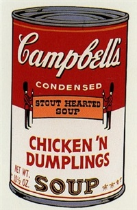 campbell's chicken 'n dumplings soup by andy warhol