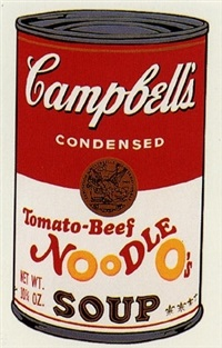 tomato beef noodle soup by andy warhol