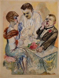 nach dem theater by george grosz