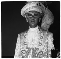 masked man in white, n.y.c. 1967 by diane arbus