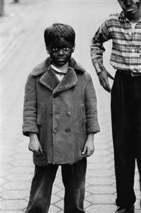 kid in black-face with friend, n.y.c 1957 by diane arbus