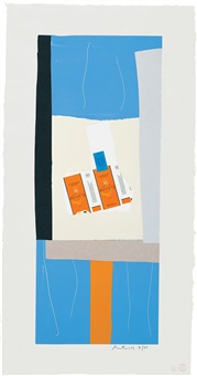 summer light series: harvest, with orange stripe by robert motherwell