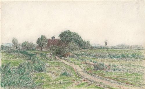 le chemin de la ferme by théodore rousseau
