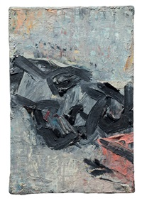 brigid in bed by frank auerbach
