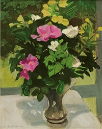 rosa rugosa by fairfield porter