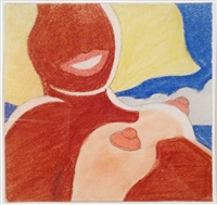 study for seascape nude by tom wesselmann