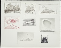 mountain & valley sketches by wayne thiebaud