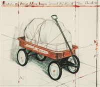 package on radio flyer wagon (project) by christo and jeanne-claude