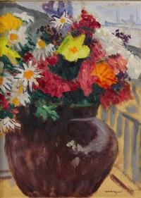 bouquet sur un balcon by albert marquet