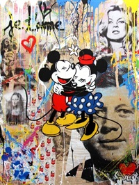 mickey & minnie #5 by mr. brainwash