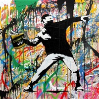 banksy thrower #1 by mr. brainwash