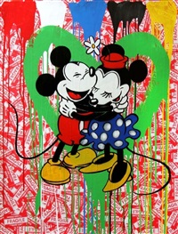 mickey & minnie #8 by mr. brainwash
