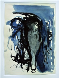 still life with bottle, 31, viii by georg baselitz