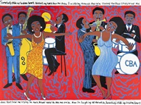 lot: 248 somebody stole my broken heart, signed by faith ringgold