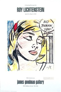lot: 182 no, thank you!, signed by roy lichtenstein