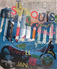 lot: 250 st louis symphony orchestra, signed by robert rauschenberg