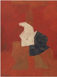 composition noir rouge iii by serge poliakoff