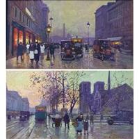 rue royale, concorde & quai de la seine, notre-dame by edouard léon cortès