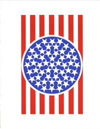 lot: 163 new glory banner i by robert indiana