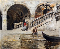 rialto bridge, venice by edwin lord weeks
