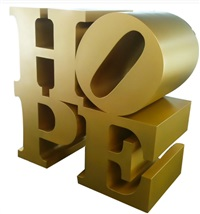 hope, all gold by robert indiana