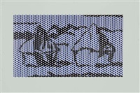 homage to monet haystack series by roy lichtenstein