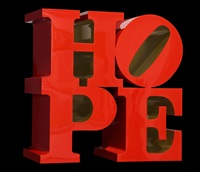 hope, red/gold by robert indiana