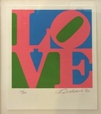 love, from the book of love by robert indiana