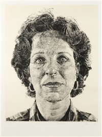 leslie/chuck's wife by chuck close