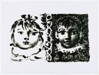 paloma et claude (uncut) by pablo picasso