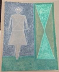 mujer azul by rufino tamayo