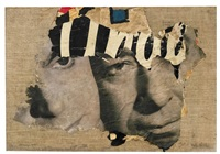 the two faces by mimmo rotella