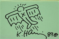 flying man by keith haring